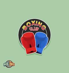 Boxing emblem logo boxing club vector