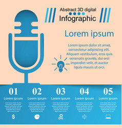 Business infographics microphone icon vector