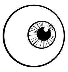 Cartoon eyeball vector