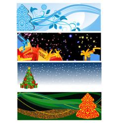 Christmas gorisontalbanners vector