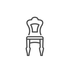 classic chair line icon vector image vector image