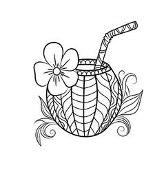 Coconut Drink vector image vector image