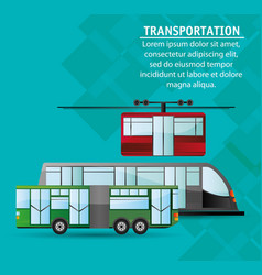 collection public transport service passenger vector image vector image