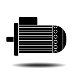 electric motor icon vector image vector image