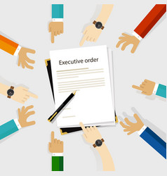 Executive order president authority regulation vector