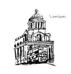 hand drawn of london set vector image