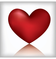 heart on the white background vector image vector image
