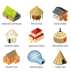 Houses of nations vector