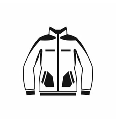Men winter jacket icon simple style vector image