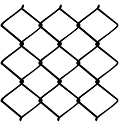 Metal Mesh Fence2 vector image vector image