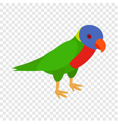 parrot isometric icon vector image vector image
