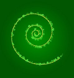 Saint patricks day background with spiral of vector