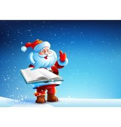 Santa with book vector image