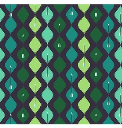 Seamless azteck colorful pattern with arrow vector image