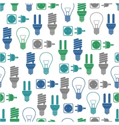 Seamless pattern with bulbs and socket vector