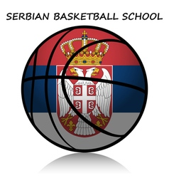 Serbian basketball school vector image