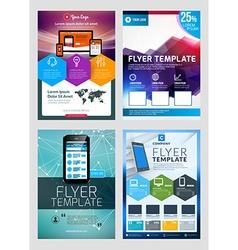 Set of abstract business flyer brochure design vector