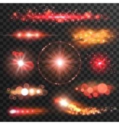 Sparkling light flashes lens flare effect vector