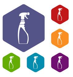sprayer bottle icons set vector image