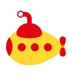 Submarine toy isolated icon design vector
