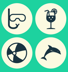 Sun icons set collection of tube vitamin mammal vector