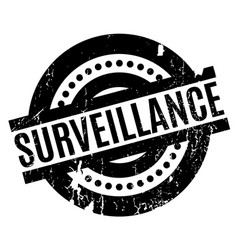 Surveillance rubber stamp vector