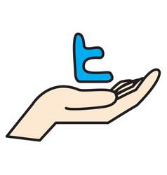 tumblr social media icons vector image