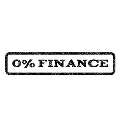 0 percent finance watermark stamp vector image