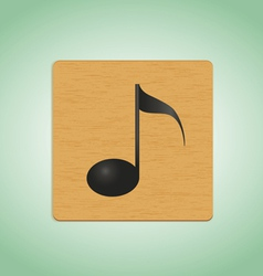 Wooden plate note vector