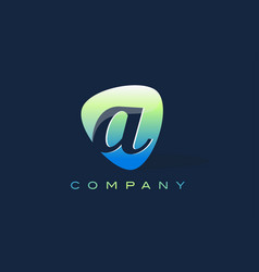 A letter logo oval shape modern design vector