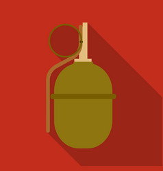 Military grenade icon in flat style isolated on vector