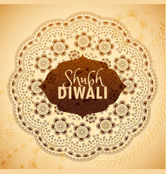 Shubh diwali greeting card wishes vector