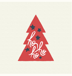 christmas text quote calligraphy tree vector image