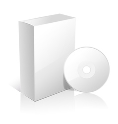White box and cd vector