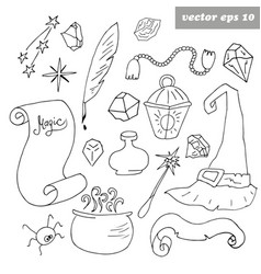 haloween set vector image