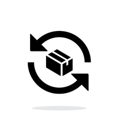 Exchange box simple icon on white background vector