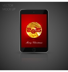 mock up tablet computer for your design of vector image