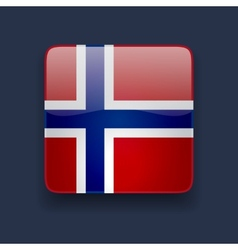 Square icon with flag of norway vector