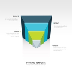 Design pyramid infographic template 4 color vector