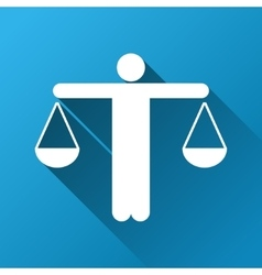Lawyer gradient square icon vector