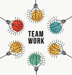 Teamwork business concept of modern human brains vector image