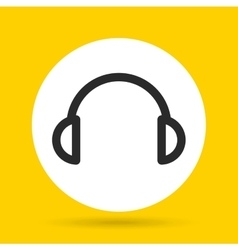 Headphones icon music and sound design vector