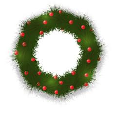 a festive wreath of christmas vector image