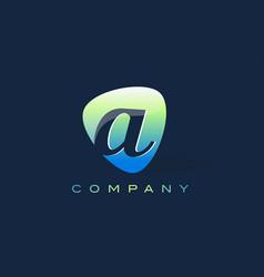 a letter logo oval shape modern design vector image vector image