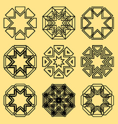 A set of northern ornaments vector