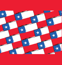 abstract chilean flag or banner vector image vector image