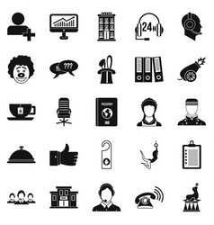 Accordance icons set simple style vector