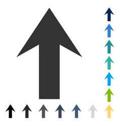 Arrow up icon vector