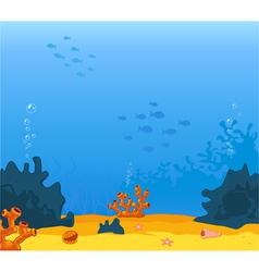 Background underwater vector