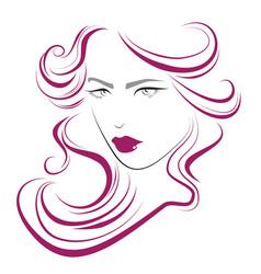 Beauty hair makeup icon vector
